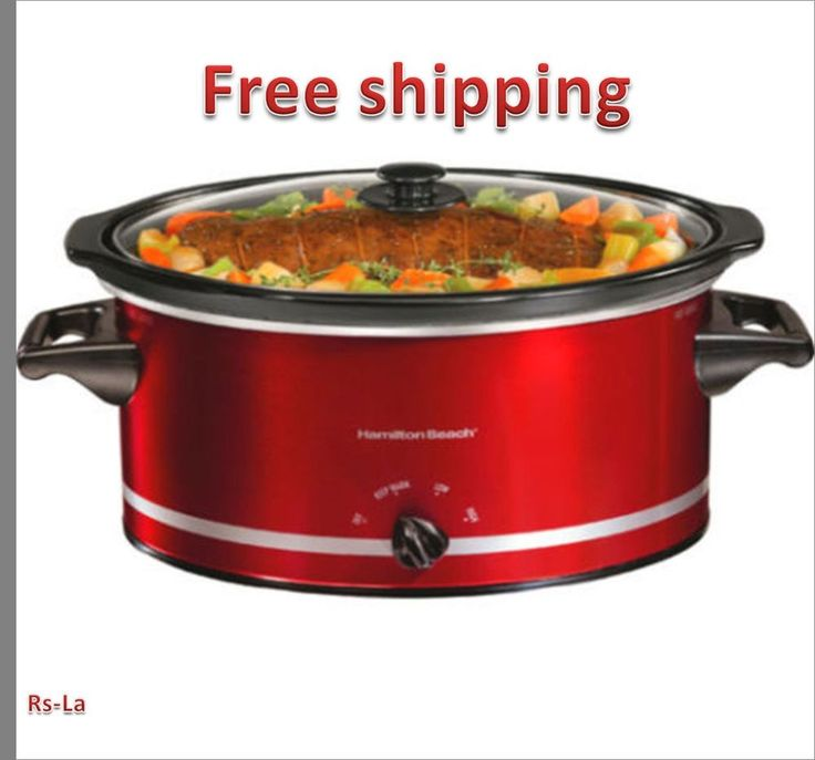 Hamilton Beach 8-Quart  Slow Cooker, Red Pot Crock Large steamer Oval cooker pot #HamiltonBeach