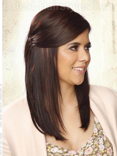 Long Straight Hair Design For A Formal Event