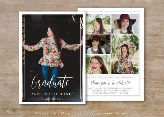 Senior Graduation Announcement  Template  by SweetLittleMuse
