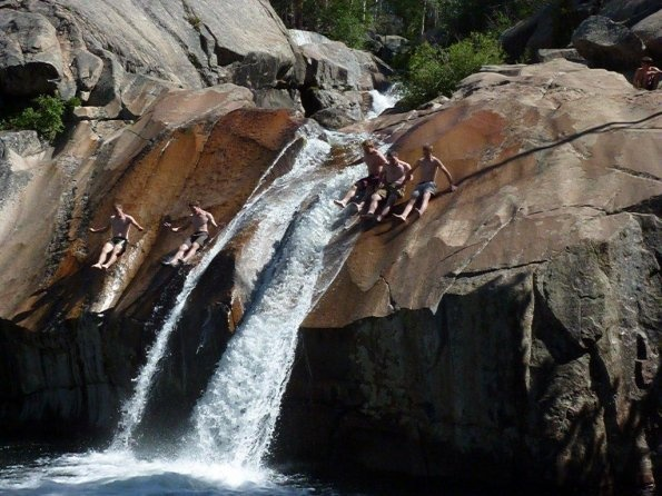 Second Swimming Pool Of The Popo Agie Falls In Sinks