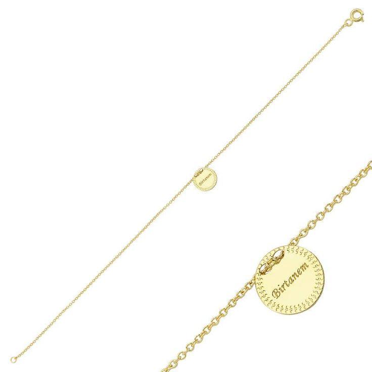 """Altın """"Birtanem"""" Bileklik #altınbaşlife #bileklik #altın #takı #tasarım #hediye"""