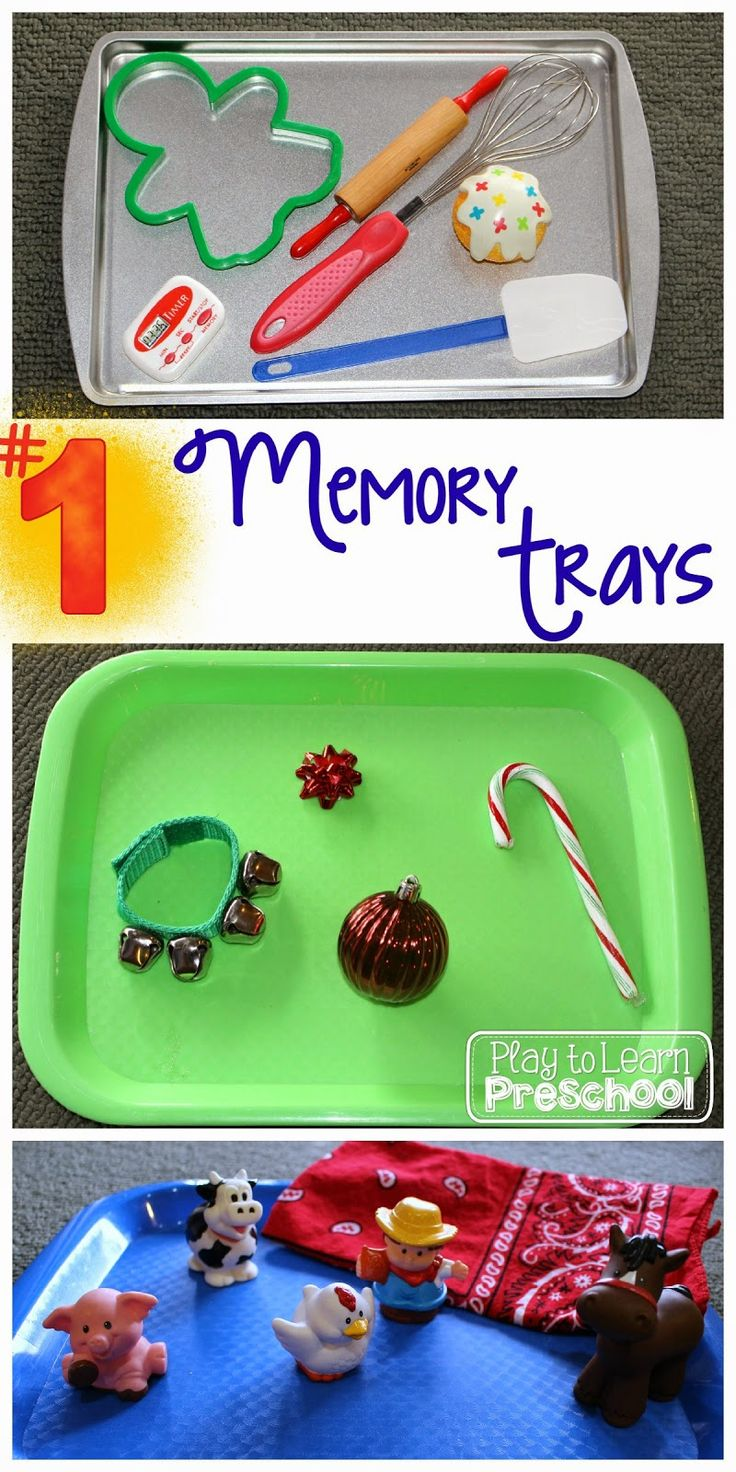Simple Memory Trays For Young Agents Add Something Or Take Something Away  And See If