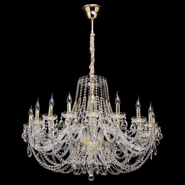 Klassischer Kristall Kerzen Kronleuchter 12-flammig CHIARO 367015212