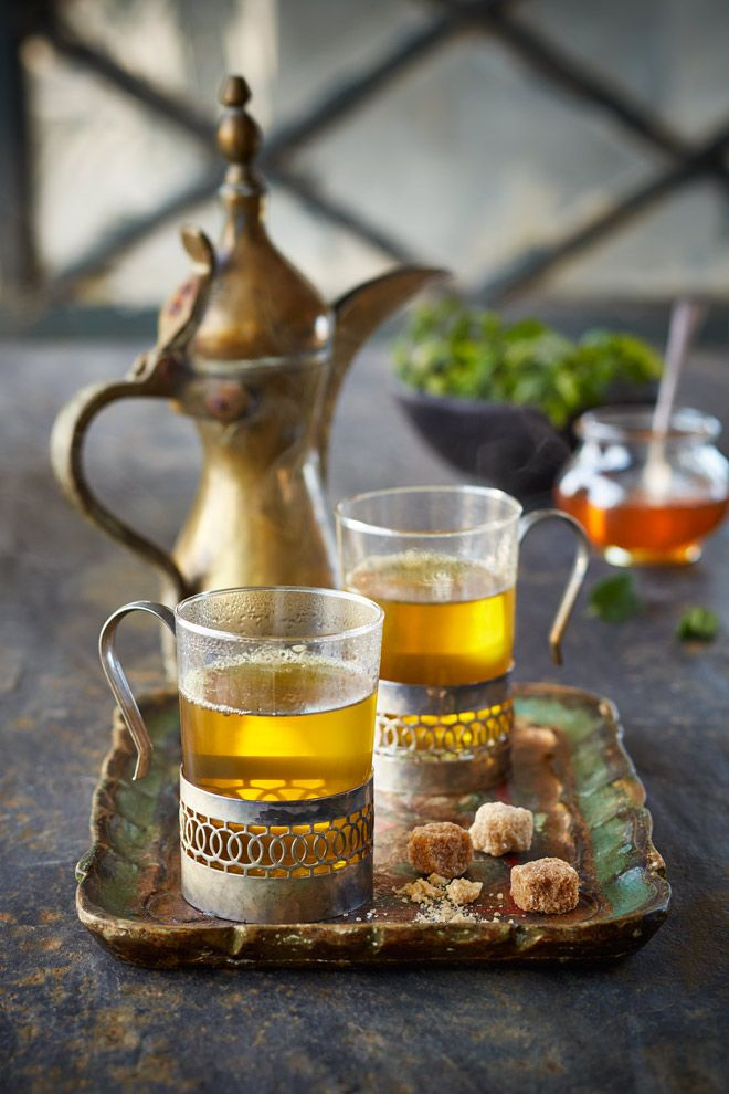 Moroccan Tea Photographed by Lew Robertson, Food Styling by Karen Gillingham, Prop styling by Steph Fowler
