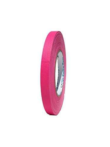 Pro Gaff / Gaffers Tape .5, 1, 2, 3, & 4 Inch Widths X Variable Lengths, 1/2 Inch, Fl. Pink Pro Tapes http://www.amazon.com/dp/B004O9SVF4/ref=cm_sw_r_pi_dp_1d.Cub1EEX830