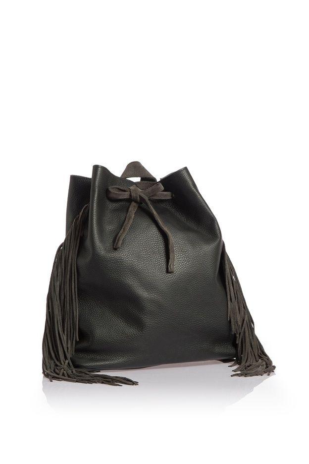 Artemis fringe backpack black WalkingStick Collection by HappyM