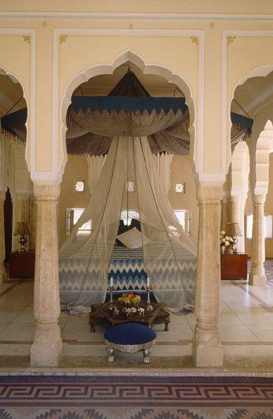 upscale moroccan bedroom - beige