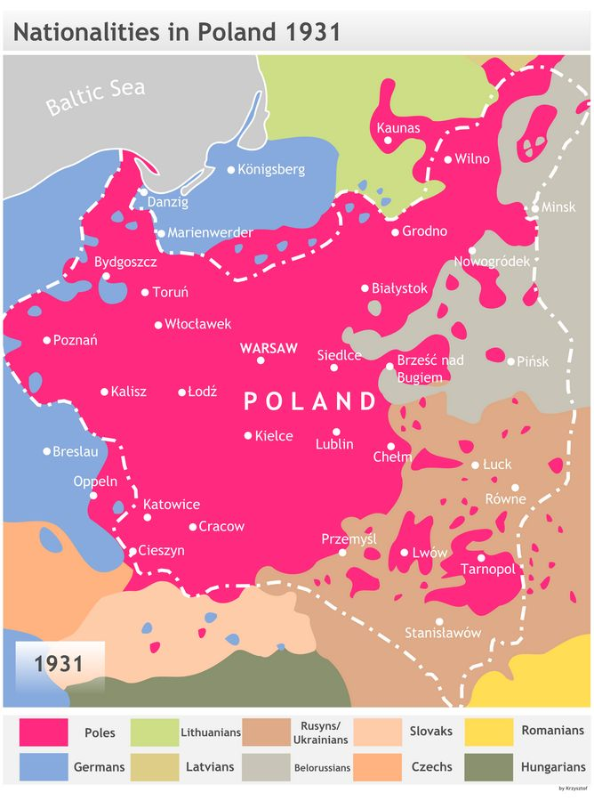 Nationalities in Poland - 1931 [668 × 900]