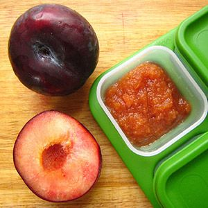 How to Make Fruit Purees for Babies: Plum Puree (via Parents.com)  6+ months