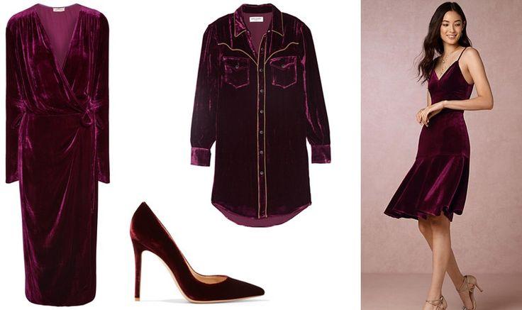 Velvet! Dress, Attico // Shirt, Saint Laurent // Shoe, Gianvito Rossi // Dress, Anthropologie