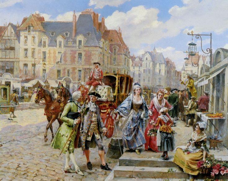 40540-Lesur_Henri_Victor_A_Paris_Street_Scene_in_The_Time_Of_Louis_XIV.jpg (1200×950)