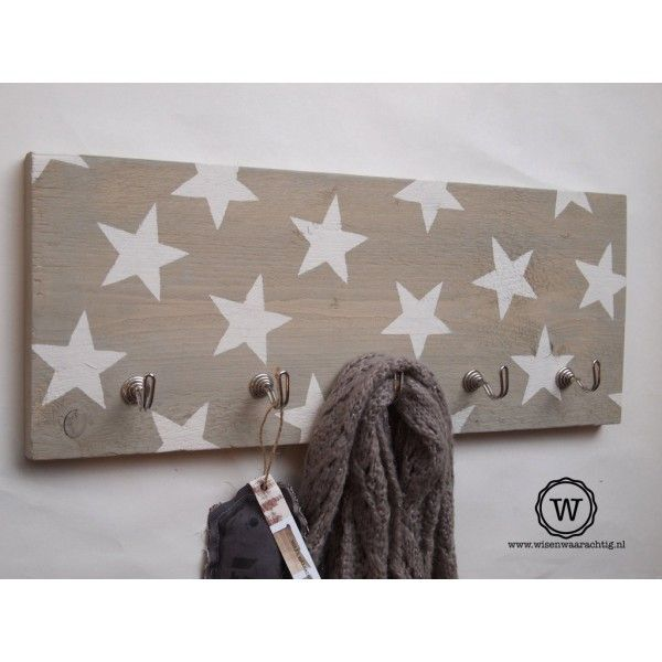 kapstok sterren steigerhout
