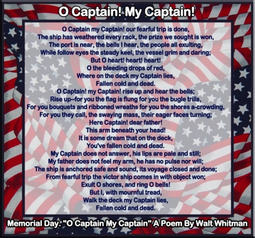 memorial day poems 1  poems about memorial day o captain you are mine #memorialday #inmemory