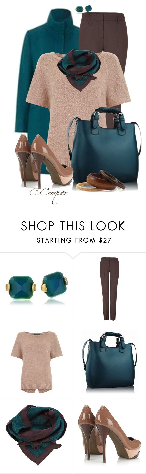 """Teal&Brown Trenc Coat Outfit"" by ccroquer ❤ liked on Polyvore featuring Sam Edelman, House of Fraser, Piazza Sempione, Mint Velvet, Burberry and Wallis"