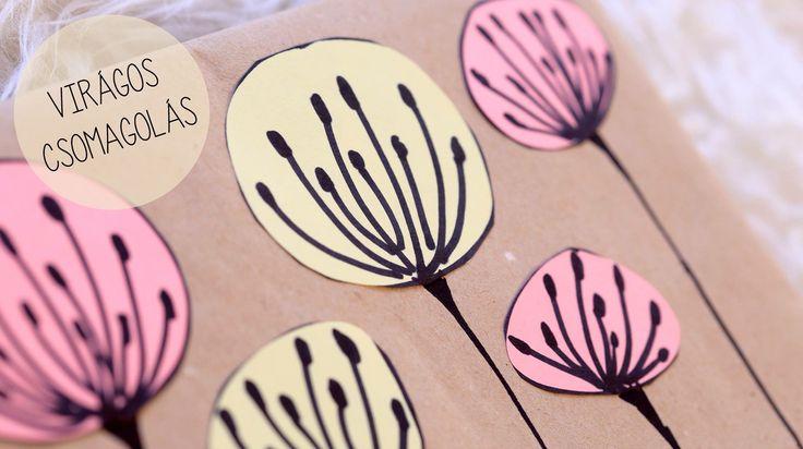 Virágos csomagolópapír -Takács Nóra-  NORIE  http://www.facebook.com/hogyanlegyekjono