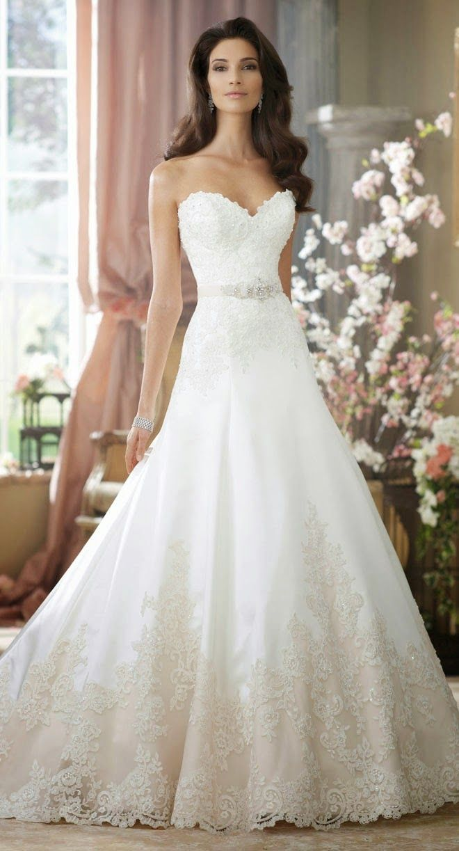 A Collection of the Best #Wedding Dresses of 2014 ~ David Tutera for Mon Cheri | bellethemagazine.com