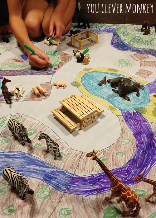 Design and make your own zoo playmat! The latest post in our #easyplayidea series - using simple resources found at home, re-create these easy play invitations for your children to make and play these holidays. Visit www.youclevermonkey.com or #easyplayidea on Instagram to follow along!