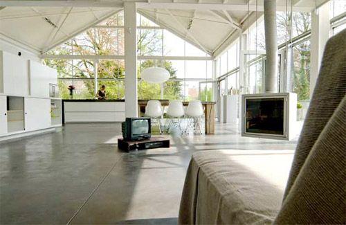17 meilleures id es propos de ossature m tallique sur pinterest maison os - Transformer hangar en loft ...