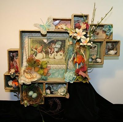 Made from Tim Holtz Configuration boxes: Paper Craft, Idea, Fairies, Shadowbox, Altered Projects, Paper Trail, Configuration Boxes