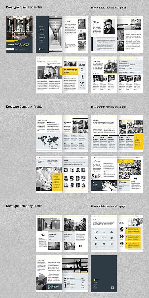 Kreatype Company Profile Company Brochure Design Corporate