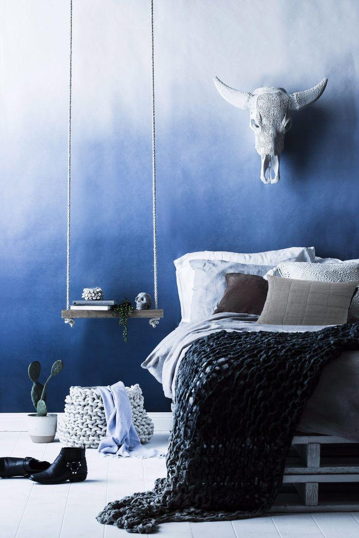 Sov godt i et blått soverom - Rom123