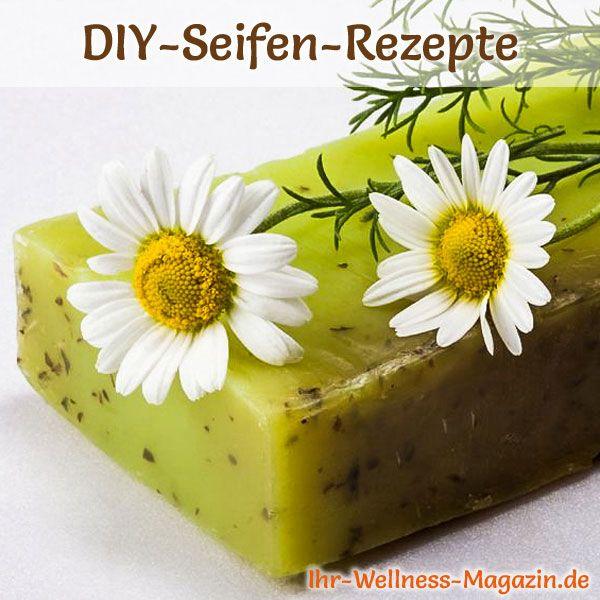Seife herstellen - Seifen-Rezept: Kamillenseife zum Selbermachen - mit hautberuhigender und entzündungshemmende Wirkung und angenehm duftend ...