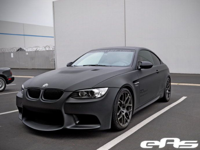 Matte Black BMW 328i Coupe.