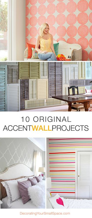 10 Original Accent Wall Projects • And lots of Tutorials!