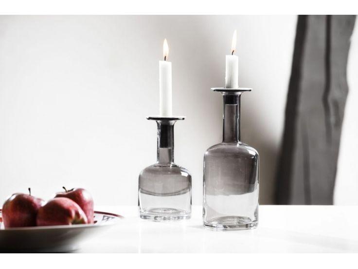 Sagaform - świecznik wazon Pava średni szary | BelloDecor