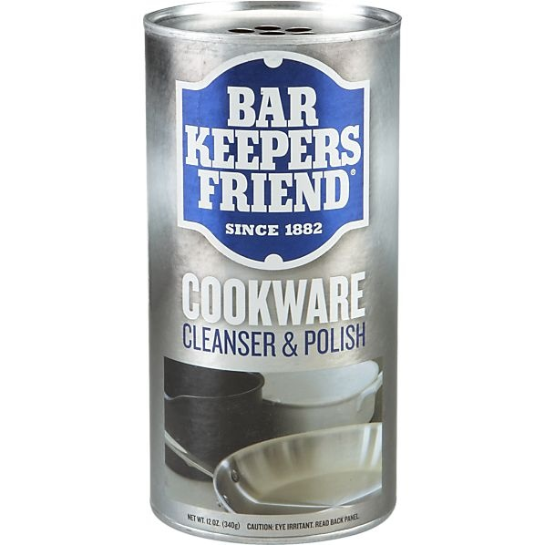 BarKeepers Friend makes a great stainless sink product, and this is rated with equal fabulosity. Now if I just had the cookware...