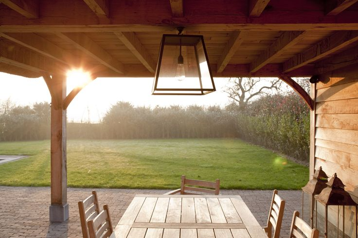 Post and beam patio