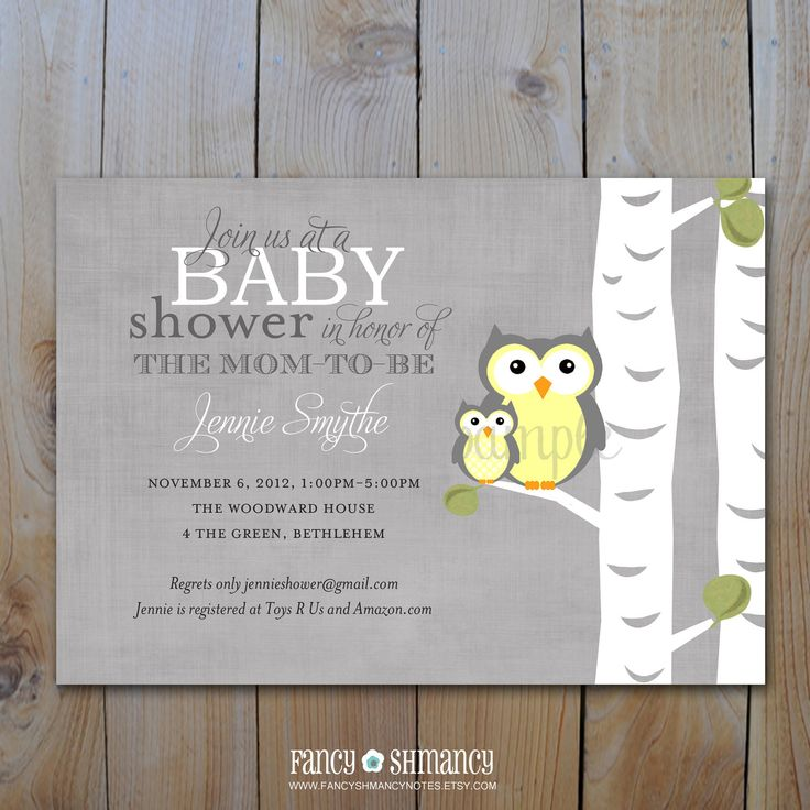 free printable camo baby shower invitations templates%0A Baby Shower Invitation   Gender Neutral Printable Owl Shower Invitation    Digital File   Yellow and