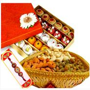 Rakhi with Sweets and Dry Fruits with Express Rakhi Delivery