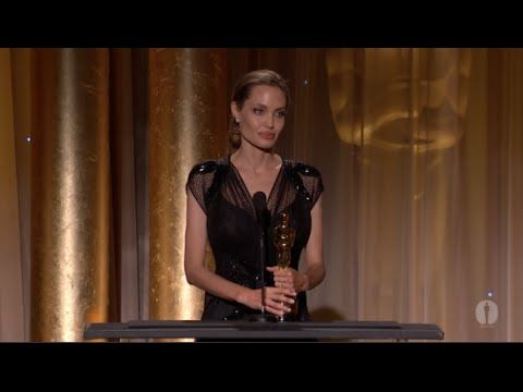 Angelina Jolie Receives The Jean Hersholt Humanitarian Award At The 2013 Governors Awards. ► Top 20 Inspiring Angelina Jolie Quotes: http://blog.goalcast.lif...