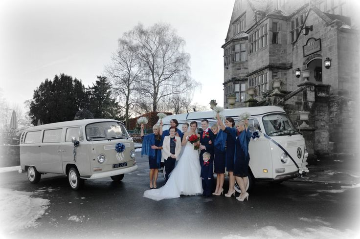 There's nothing like a campervan for your wedding transport - unless it's two campervans!