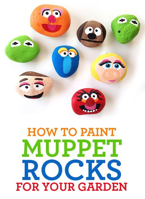 How to Paint Muppet Garden Rocks.  Celebrate the movie Muppets: Most Wanted #MuppetsMostWanted