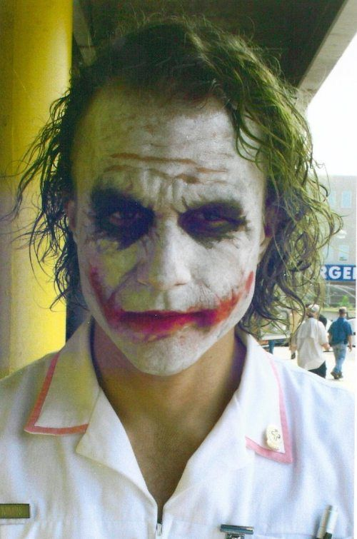 Behind the scenes images of Heath Ledger show him at the peak of his talents.