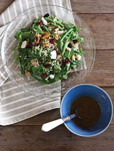 Σαλάτα με καφέ ρύζι και φασολάκια | Συνταγές, Σαλάτες | Athena's Recipes