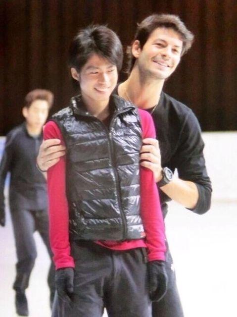 Tatsuki Machida(JAPAN) and Stephan Lambiel(Swiss)