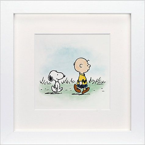 Buy Schulz - Charlie Brown and Snoopy Framed Print, 23 x 23cm Online at johnlewis.com