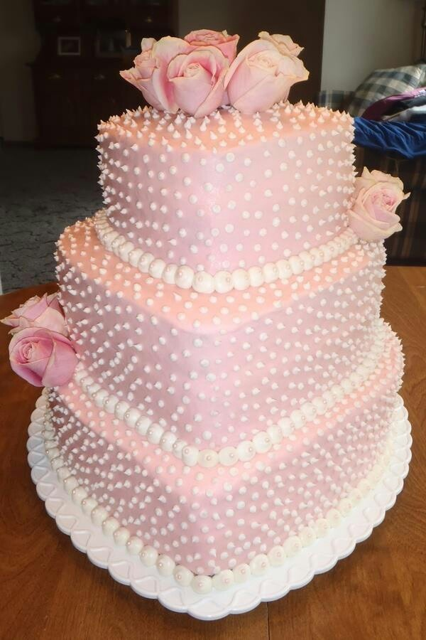 Pink, Heart shape cake Cake Designs Pinterest