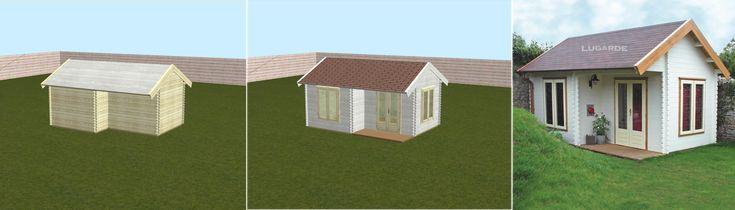 #Gartenhaus, #Blockhaus oder #Veranda mit einem 3D-Konfigurator nach Maß für den eigenen #Garten am eigenen PC entwerfen! https://freudengarten.de/show/183