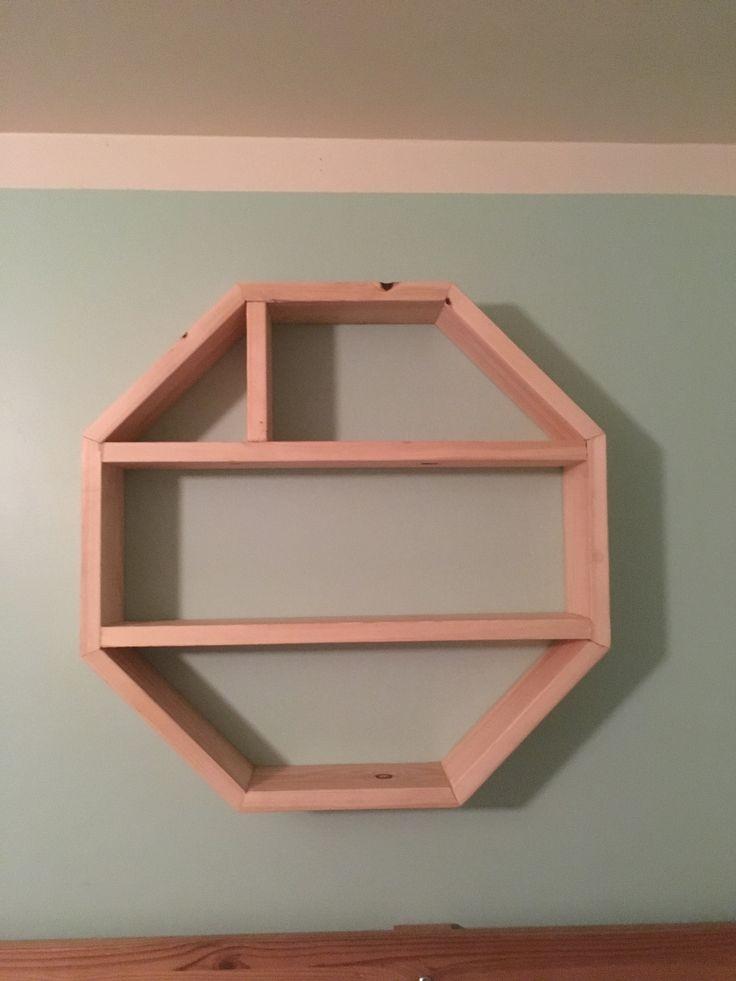 Octagon shelf tricky to glue