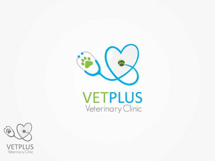 Logo Design for Vet Plus Veterinary Clinic Vet Logos