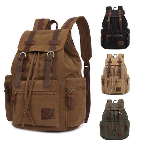 KAUKKO Vintage Canvas Backpack