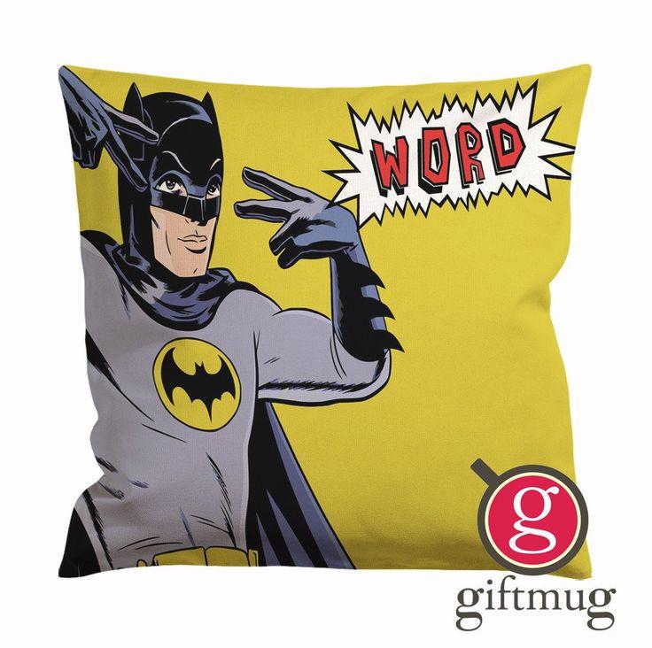 Batman Word Cushion Case / Pillow Case