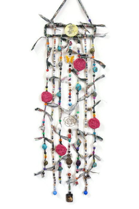 Bohemian Wall Decor Boho Hanging Gypsy Mobile Rose The