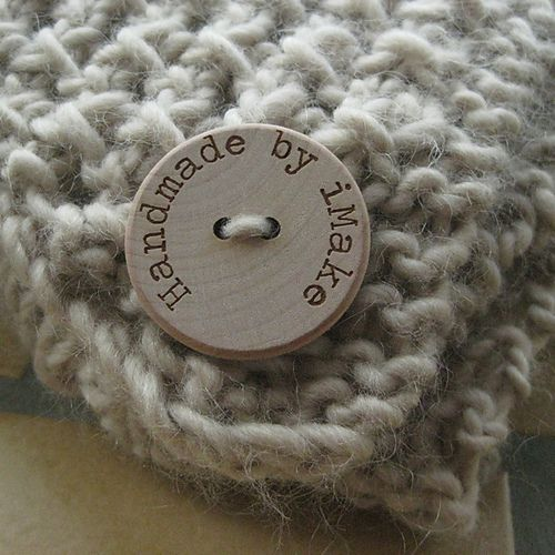 This Etsy shop has the cutest custom buttons. The natural wood would be so great to Rit Dye for an even more custom look .