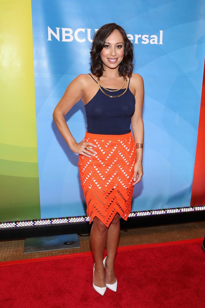 Cheryl Burke worked a sexy summer vibe in a tight blue cami during the NBC New York Summer Press Day. Description from stylebistro.com. I searched for this on bing.com/images