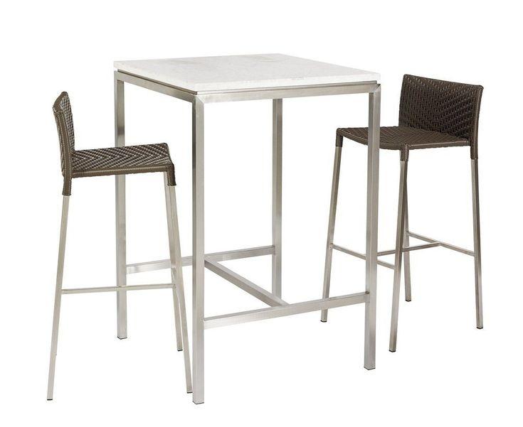 Lilia High Bar Table White Marble